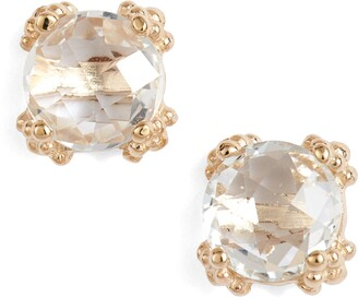 Anzie Dewdrop White Topaz Stud Earrings