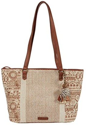 Sakroots Artist Circle Medium Satchel (Tobacco Batik World) Satchel Handbags