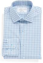 Lorenzo Uomo Men's Trim Fit Plaid Dress Shirt