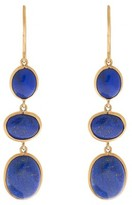Amrapali 18K Yellow Gold with Lapis Lazuli Earrings