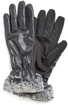 URBAN RESEARCH U R Tech Faux Fur Cuff Tech Gloves
