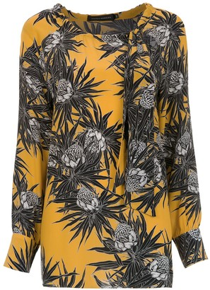 Andrea Marques Printed Silk Blouse