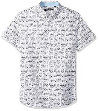 Ben Sherman Men's SS Animal FACE PRNT Shirt
