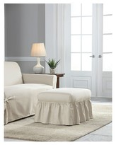 Serta Relaxed Fit Duck Furniture Ruffle Ottoman Slipcover