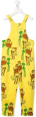 Mini Rodini Monkey Print Dungarees