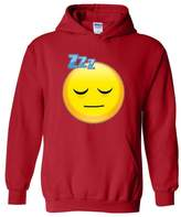Xekia Sleepy Time Happy Face Emoji Unisex Hoodie Sweatshirt