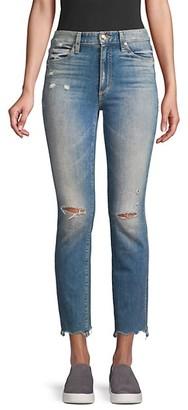 Joe's Jeans Milla Mid-Rise Slim-Fit Straight-Leg Distressed Ankle Jeans