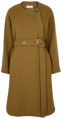 Chloé Brown Belted Wool-blend Coat