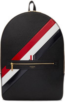 Thom Browne Black Diagonal Stripe Backpack