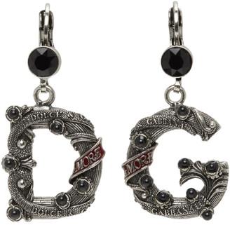 Dolce & Gabbana Black Small City Earrings
