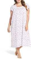 Eileen West Plus Size Women's Print Cotton Nightgown