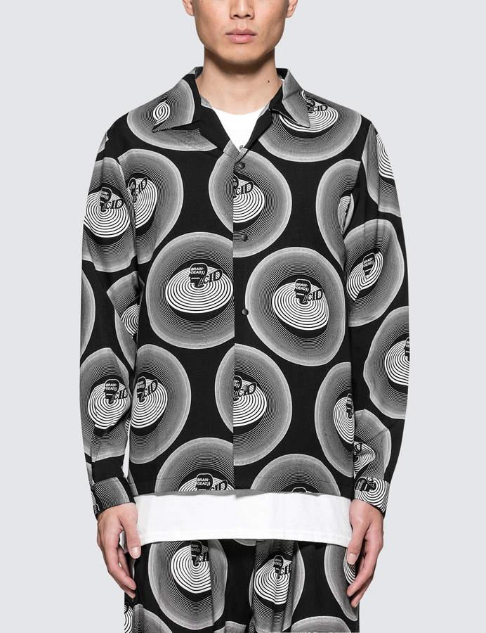 SASQUATCHfabrix. Brain Dead X Acid Open Collar Shirt