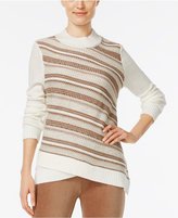 Alfred Dunner Twilight Point Striped Sweater