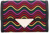 Sara Battaglia Elizabeth Waves clutch - women - Calf Leather/Polyester - One Size