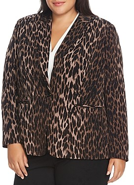 Vince Camuto Plus Animal Print Blazer