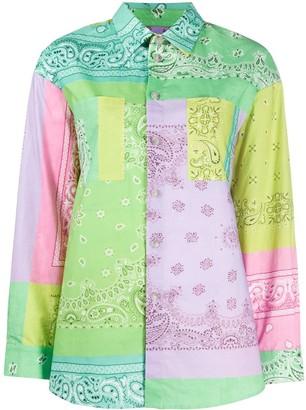 Natasha Zinko Colour Block Paisley Shirt
