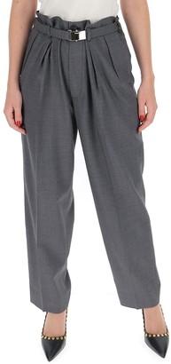 Miu Miu Belted Wide Leg Trousers