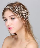 Gold Floral Branch Rhinestone Headband