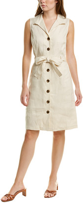 Brooks Brothers Belted Linen Shirtdress