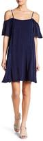 Paper Crane Garment Washed Cold Shoulder Dress