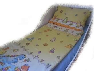 Camilla And Marc BlueberryShop Baby Cot Duvet and Pillow Covers Bedding Set, 150 x 120 cm, Blue Pirate, 2-Piece