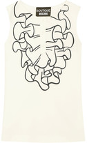Moschino Printed Crepe Top - White