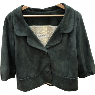 Simonetta Ravizza Green Suede Jacket for Women
