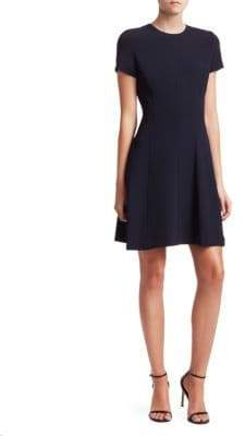 Theory Modern Seamed Fit-and-flare Dress