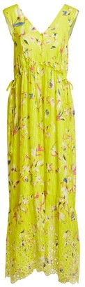 Tanya Taylor Catalina Sleeveless Print Maxi Dress