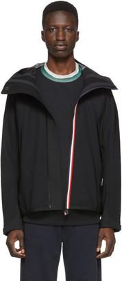 MONCLER GRENOBLE Black Maglia Zip-Up Jacket