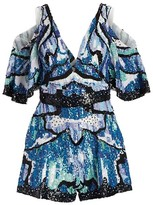 Thumbnail for your product : ZUHAIR MURAD Wings Sequin Embroidered Romper