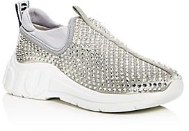 Miu Miu Women's Rhinestone Embellished Low-Top Sneakers