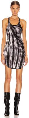Frankie B. Shea Tank Mini Dress in White & Black Tie Dye | FWRD