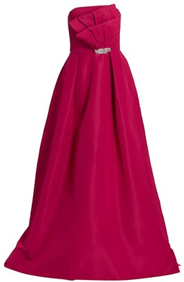 Alexia Maria Odette Strapless Silk A-Line Gown