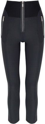 High Minimalist navy stretch-jersey leggings