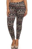 Leggings4U New Trendy Reindeers In Love American Plus Size Fur Lined Printed Cozy Leggings
