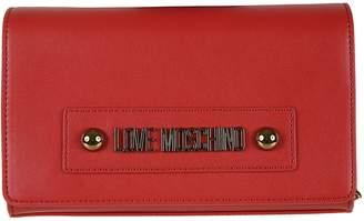 Love Moschino Logo Plaque Flap Shoulder Bag
