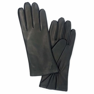 Harssidanzar Womens Italian Lambskin Leather Gloves Cashmere Lined