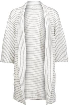 Splendid Meridien Metallic Striped Ribbed-knit Cardigan