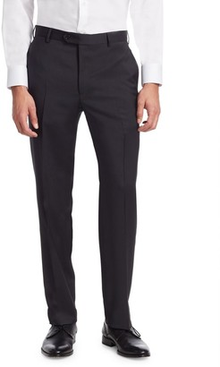 Emporio Armani Navy Wool Trousers