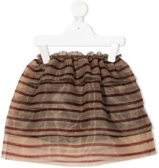 Touriste Trampoliere striped skirt