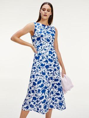 Tommy Hilfiger Sleeveless Floral Print Midi Dress