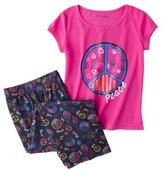 Xhilaration Girls' 2-Piece Short-Sleeve Pajama Set