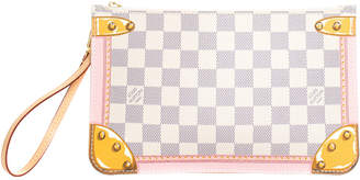 Louis Vuitton Limited Edition Damier Azur Canvas Wristlet