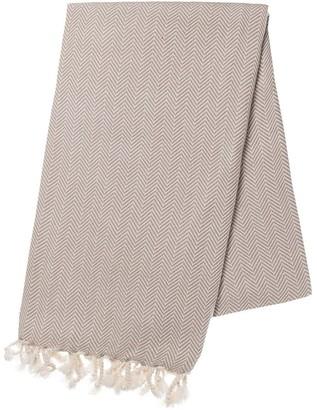 Slate & Salt Herringbone Sand Turkish Towel
