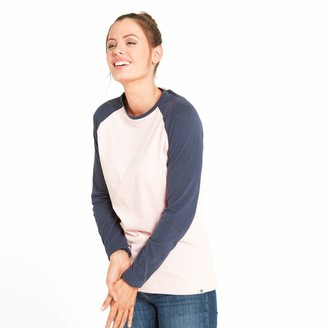 TOG 24 Thirn Womens Long Sleeve T-Shirt Super Soft Crew Cut Jersey Tee Slim Streamlined Flattering Fit Textured Plain Body and Contrast Colour Sleeves Everyday Wear Leisure Casual Work Holiday