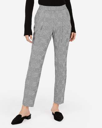 Express Mid Rise Houndstooth Pull-On Ankle Pant