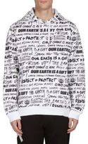 Kenzo Hooded Graphic Print Cotton Sweatshirt