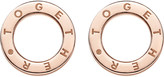Thomas Sabo Together 18ct rose gold-plated earrings