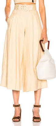 Nicholas Belted Wide Leg Pant in Champagne | FWRD